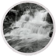 Oregon Waterfall Round Beach Towel