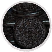Oreo Cookies Round Beach Towel by Rob Hans