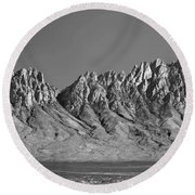 214878-organ Mountains Panorama     Round Beach Towel