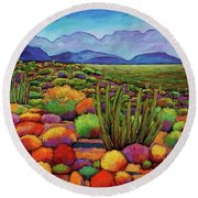 Organ Pipe Round Beach Towel by Johnathan Harris