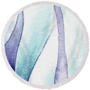Organic Abstract By Nature IIi Round Beach Towel