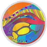 Organic Life Scan Or Cellular Light - Original, Square Round Beach Towel