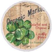 Organic Market Round Beach Towel