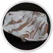 Organic Oval Marbled Ceramic Dish Round Beach Towel by Suzanne Gaff