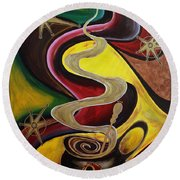 Organo Gold Round Beach Towel