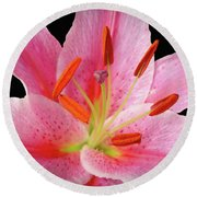 Oriental Beauty Round Beach Towel
