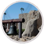 Original Bell Tower Round Beach Towel