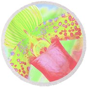 Original Green Orchid Round Beach Towel