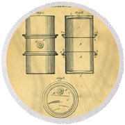 Original Patent For The First Metal Oil Drum Round Beach Towel