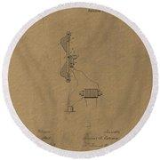 Original Thomas Edison Patent Round Beach Towel