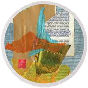 Origins Of Civilization Round Beach Towel