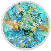 Round Beach Towel featuring the painting Orinoco by Dominic Piperata