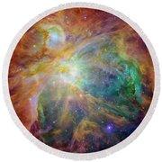 Orion Nebula Round Beach Towel