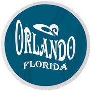 Orlando Florida Design Round Beach Towel