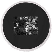 Round Beach Towel featuring the photograph Ornamental Snowflake by Robert Knight