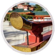 Ornate Details O Heian Jingu Shrine In Kyoto Round Beach Towel