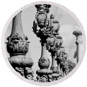 Ornate Paris Street Lamp Round Beach Towel