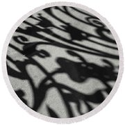 Ornate Shadows Round Beach Towel