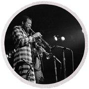 Ornette Coleman On Trumpet Round Beach Towel