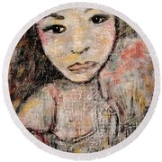 Orphan Round Beach Towel by Natalie Holland