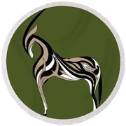 Oryx Round Beach Towel