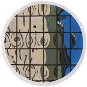 Osborn Reflections Round Beach Towel