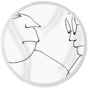 Oscar And Luther Round Beach Towel