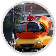 Oscar Mayer Wienermobile Round Beach Towel