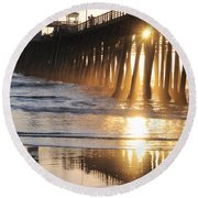 O'side Pier Round Beach Towel