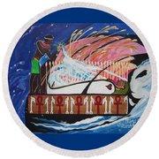 Osiris - Nepra By Blaa Kattproduksjoner  Round Beach Towel