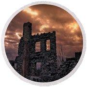 Osler Castle Round Beach Towel by Michaela Preston