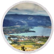 Osoyoos Lake 2 Round Beach Towel