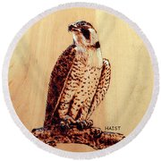 Osprey 2 Pillow/bag Round Beach Towel by Ron Haist