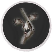 Round Beach Towel featuring the photograph Osprey Tee-shirt by Donna Brown