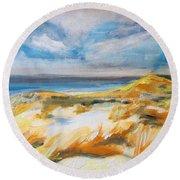 Ostend Dunes Round Beach Towel