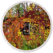 Round Beach Towel featuring the photograph Other Side Of The Leaves by Glenn McCarthy Art and Photography
