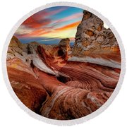 Other-world Sunrise Round Beach Towel