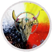 Ottawa Medicine Wheel Round Beach Towel