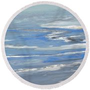 Ottawa River Abstract Round Beach Towel