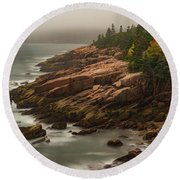 Otter Cliffs Round Beach Towel