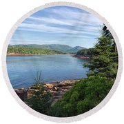 Round Beach Towel featuring the photograph Otter Cove by John M Bailey