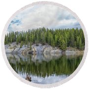 Otter Creek Reflection Round Beach Towel