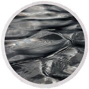 Otter Ripples Round Beach Towel