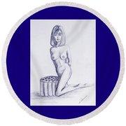 Ottoman II Round Beach Towel