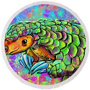 Pangolin Round Beach Towel