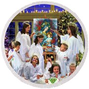Our 2017 Christmas Angels Round Beach Towel
