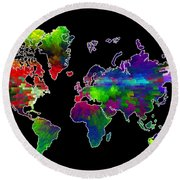 Our Colorful World Round Beach Towel by Randi Grace Nilsberg