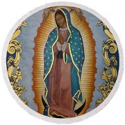Our Lady Of Guadalupe - Lwlgl Round Beach Towel