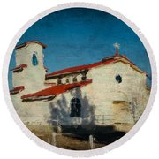 Our Lady Of La Salette Mission Paint Round Beach Towel
