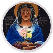 Our Lady Of Light - Help Of The Addicted - Mmlol Round Beach Towel